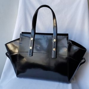 Alberta Di Canio Genuine Black Italian Leather Bag